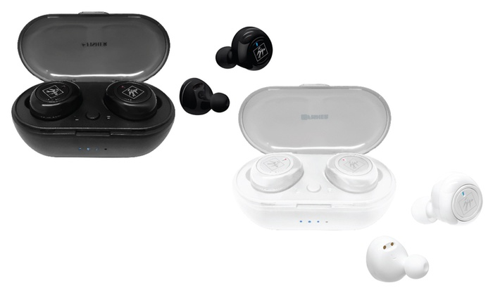 Fisher Ftw210 True Wireless Bluetooth Earbuds W Mic And Charging Case Groupon