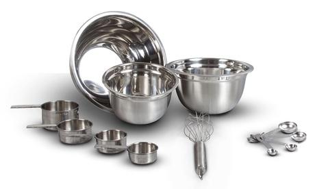 Stainless Steel German Mixing Bowl Set (12-Piece) 4e6d38dc-04f6-11e7-af80-00259069d7cc