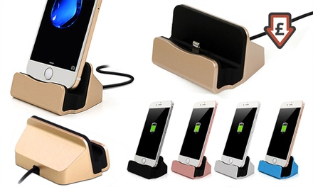 One or Two Desktop Charging Docks with Braided Cables