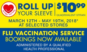 Chemist Warehouse: $10.99 for a Flu Vaccination Service at Chemist Warehouse - Over 160 Locations