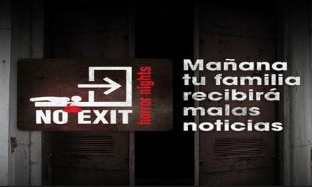 """Juego de escape room """"No Exit Horror Nights"""" para 1 persona hasta el 31 de agosto (27% de descuento)"""