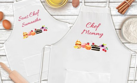 Mother and Daughter Personalized Chef Aprons from Monogram Online