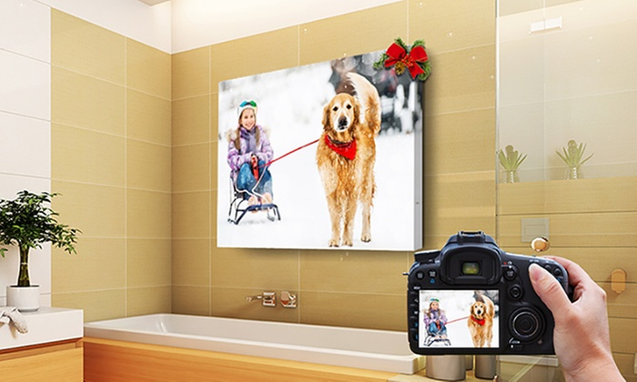 Custom Waterproof Indoor/Outdoor Canvas Wall Art | Groupon