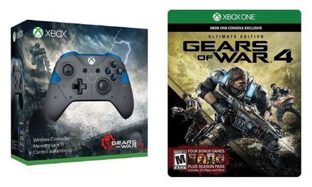 xbox one gears of war 4 game and wireless controller. Black Bedroom Furniture Sets. Home Design Ideas
