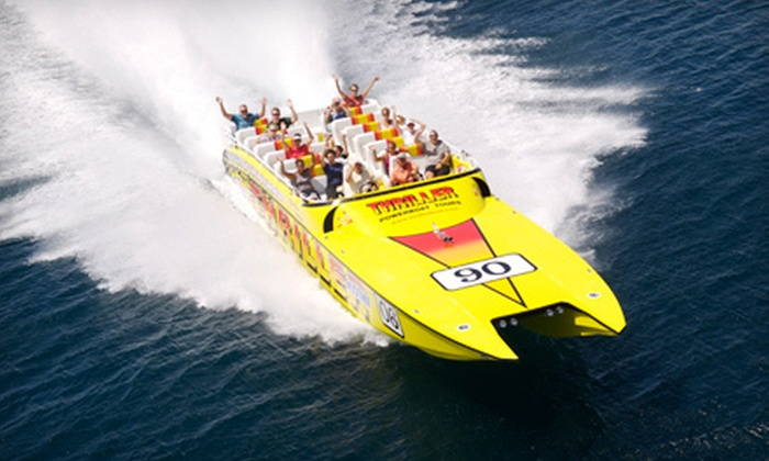 Thriller Miami Speedboat Adventures - Downtown Miami: $22 for a 45-Minute Speedboat Tour with Framed Photo from Thriller Miami Speedboat Adventures (Up to $45 Value)