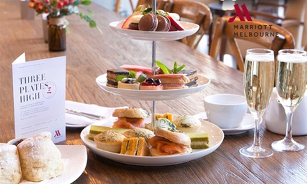 High Tea for Two Ppl + Wine (From $69) or Champagne ($99) at Essence Restaurant at Melbourne Marriott (Up to $138 Value)