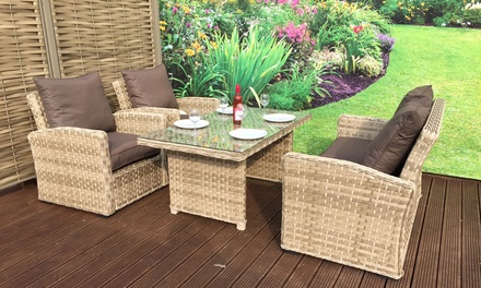 Signature weave garden sofa groupon for Garden furniture deals