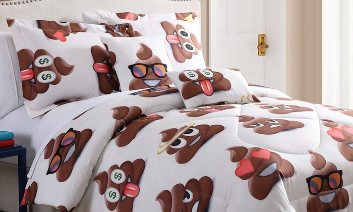 Up To 84 Off On Emoji Comforter Set 4 Or 5pc Groupon Goods