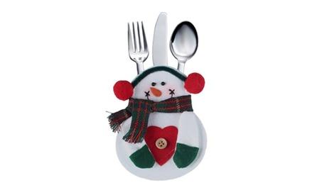 Pack de 4 o 8 porta cubiertos navideños Oferta en Groupon