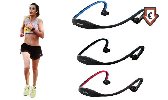 Groupon Goods Global GmbH: 1 o 2 pares de auriculares deportivos con opción a tarjeta de memoria Kingston desde 6,99 € (hasta 82% de descuento)