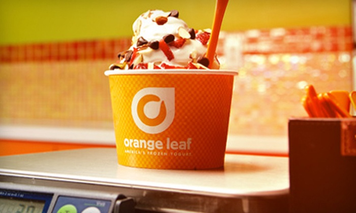 Orange Leaf - Forest Crest: $9 for Three Visits for Frozen Yogurt at Orange Leaf - The Rim ($18 Value)