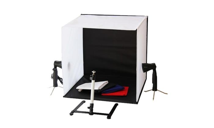 kit de studio photo portable groupon shopping. Black Bedroom Furniture Sets. Home Design Ideas