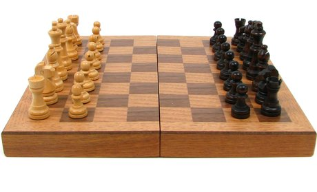 Wooden Book-Style Chess Set