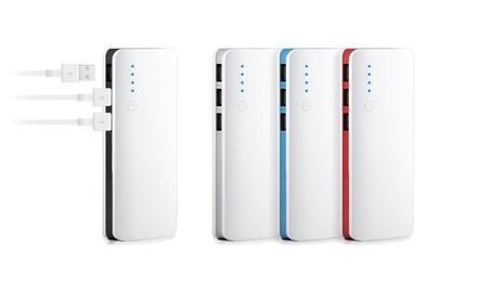 1x oder 2x 20.000 mAh Powerbank mit digitaler Anzeige und 3 USB Slots, optional mit Ladekabel