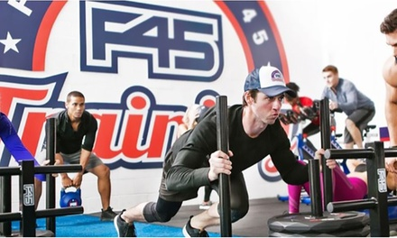FourWeeks Unlimited F45 Training for One $19 or Two People $35 at F45 Training Hendra Up to $528 Value