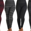 Lyss Loo Women's Printed Fleece Leggings. Multiple Styles Available.