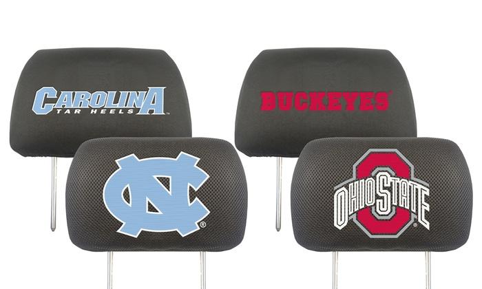 NCAA Team Headrest Covers