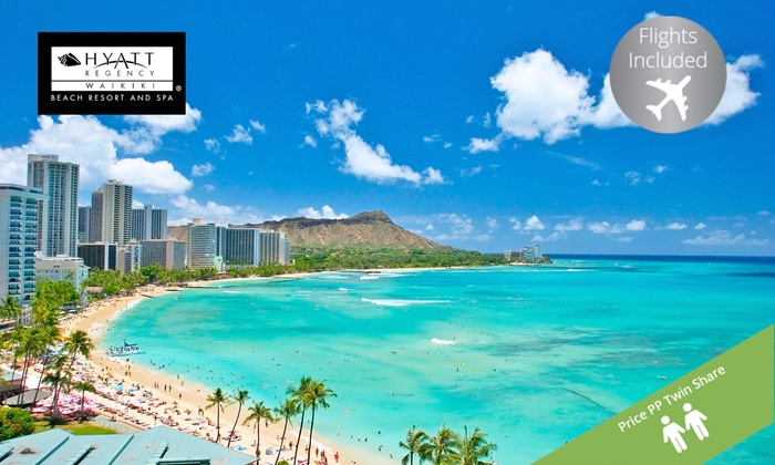 Your Travel Deal - Your Travel Deal: Hawaii: $1,499 Per Person for a Five-Night Escape with Flights at 4* Hyatt Regency Waikiki Beach Resort and Spa