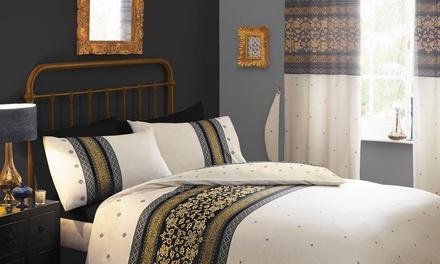 EDS Bettwäsche-Set oder 2er-Set Vorhänge in der Größe und Farbe nach Wahl