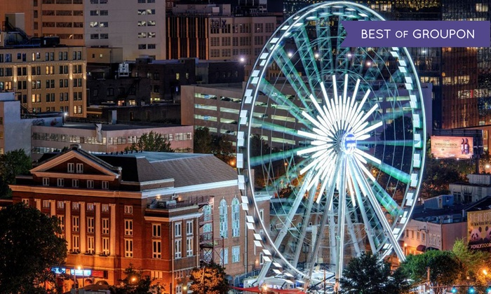 SkyView Ferris Wheel - Downtown Atlanta: Romance Package, Date Night for Two, or Admission for Four to SkyView Ferris Wheel (Up to 38% Off)