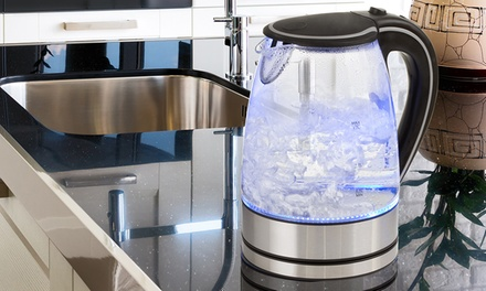 $29 for a 1.7L Glass Kettle with Blue LED Light Don't Pay $149