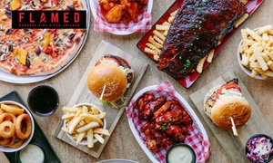 Flamed Burgers: $25 for $50 or $50 for $100 Toward Food at Flamed Burgers