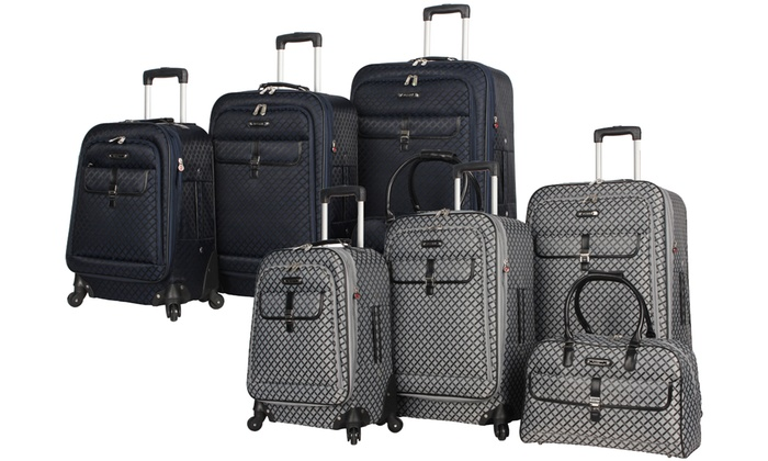 Rosetti Amelia Fashion Expandable Spinner Luggage Set (4-Piece)