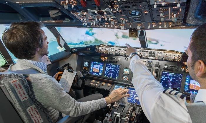 european flight simulator jusqu 39 21 gosselies groupon. Black Bedroom Furniture Sets. Home Design Ideas