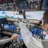A bordd'un simulateur de vol