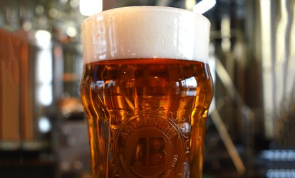 image for Brewery Visit with Souvenir Glasses at AquaBrew (Up to 42% Off). Two Options Available.
