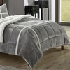 Caterina Sherpa-Lined Plush Microsuede Comforter Set (2- or 3-Piece)