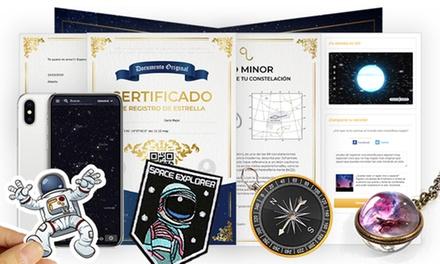 Registro de estrella con certificado online o pack físico en Registra Una Estrella (hasta 52% de descuento)