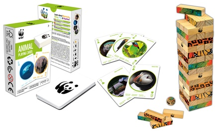 WWF Tropical Tumble Tower Game and Endangered Species Playing Cards
