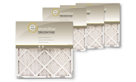 4-Pack of Enviroflow Pollen and Dust Control One Inch-Thick Air Filters from $14.99-$19.99