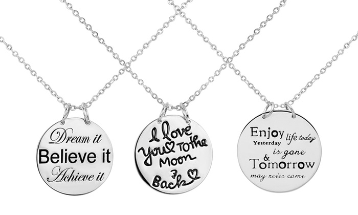 41 off on silver inspirational pendants groupon goods sterling silver inspirational pendants sterling silver inspirational pendants aloadofball Gallery