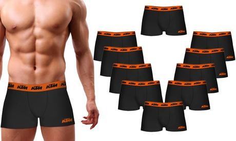 Pack de 10 boxers KTM para hombre, disponible en varias tallas