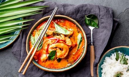 3 Gänge Thai Curry Menü inkl. Vorspeise und Suppe für 2 oder 4 Personen im Cocos Restaurant (bis zu 46% sparen*)