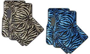 OxGord Front and Back Zebra Pattern Car Floor Mats