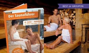 """Der Saunaführer: """"Der Saunaführer"""" mit Gutscheinen für Saunabesuche in der Region nach Wahl (30% sparen*)"""