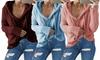 Maglione da donna con cappuccio