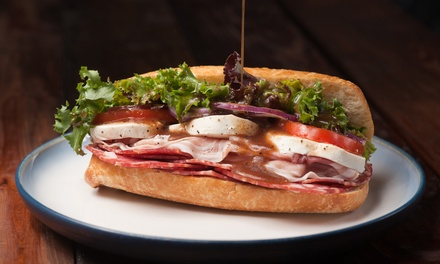 Sandwiches, Cafe Cuisine, and Coffee at Fabio & Danny's Cafe (Up to 40% Off). Three Options Available.