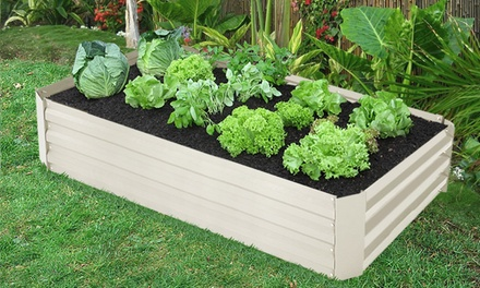 Raised garden planter bed groupon goods for Gardening 4 less groupon
