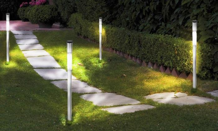 Farolas solares de jard n groupon goods - Farolas para jardin ...