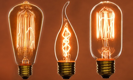 Decorative Antique-Style Filament Lightbulb 3-Pack. Multiple Options Available from $11.99–$14.99.