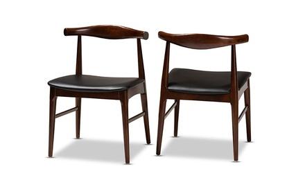 Eira Black Walnut Finished Dining Chair Set