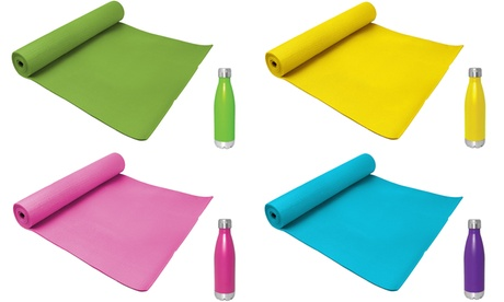 Yoga Mat with Stainless Steel Water Bottle f9b87afa-e1d6-11e6-ac5b-00259060b5da