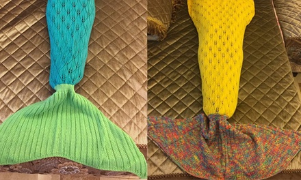 Knitted Mermaid Tail Blanket for Kids ($25) or Adults ($29)