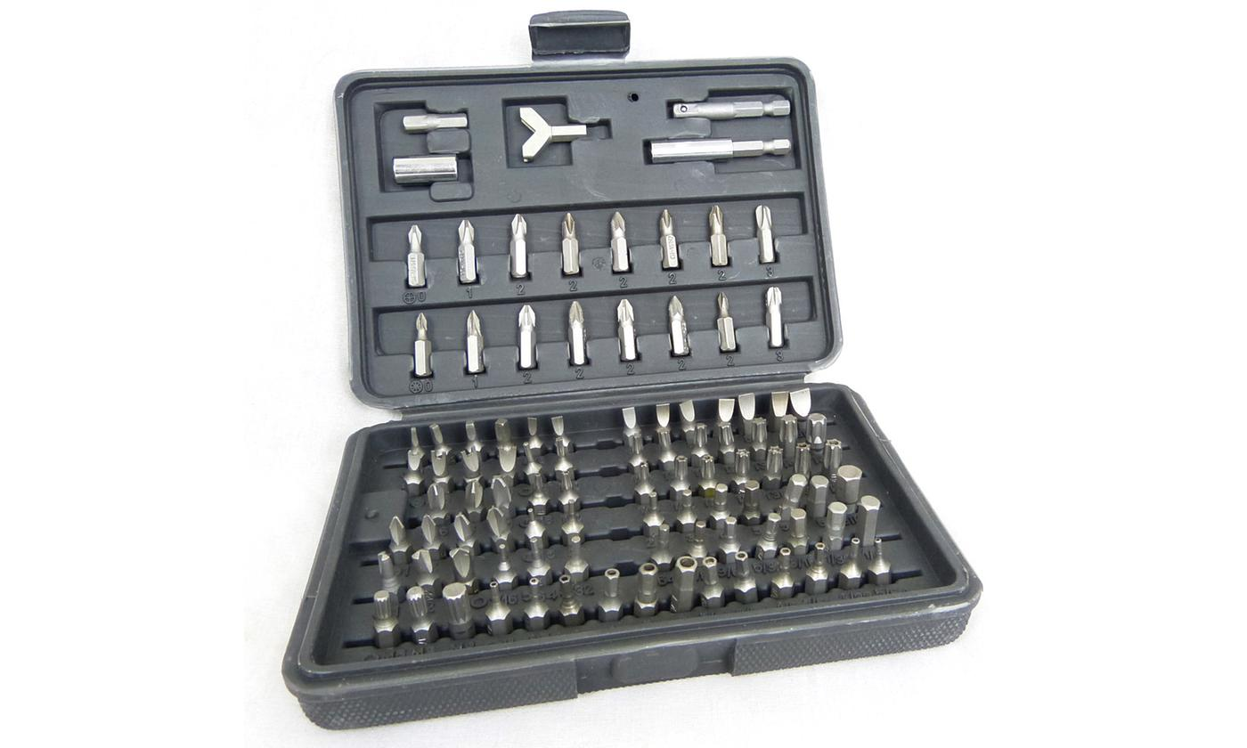 One or Two Hyfive 100-Piece Security Screwdriver Bit Sets