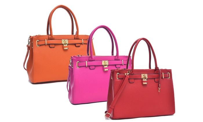 Paris Double-Zipper Handbag