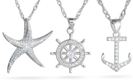Collar o pulsera de temática marina adornados con cristales Swarovski®